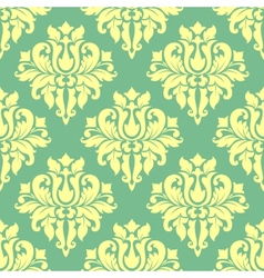 Floral yellow damask seamless pattern vector image vector image