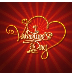 Glamorous Gold Valentines Day vector image