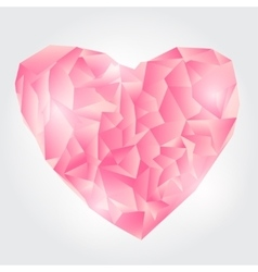 Abstract Pink Polygonal heart vector image vector image