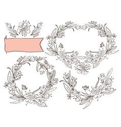 decorative elements floral vector image
