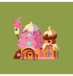 Fantasy candy house vector