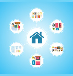 house icon and living space vector image vector image