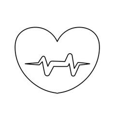 line heartbeat sign of cardiac rhythm frequency vector image