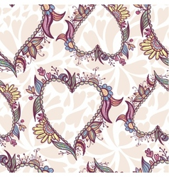 Blossoming Heart pattern vector image vector image
