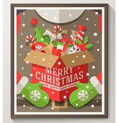 Christmas design with Santa Claus vector image vector image