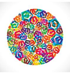colorful small arrow icon design stock vector image vector image