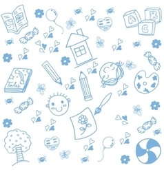 Draw kids of doodle art vector image vector image