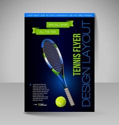 Flyer template sport elements for design Tennis vector image
