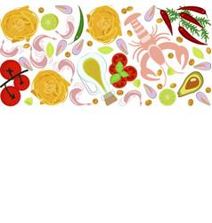 fresh seafood flat design vector image vector image