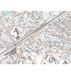 Imaginary plan a residential area of private vector image