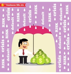 Money risk management vector image