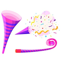 Party horn and musical straw vector image vector image