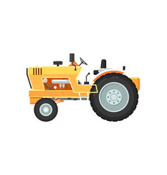 vintage farm tractor isolated vector image