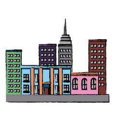 buldings business commercial residence urban vector image