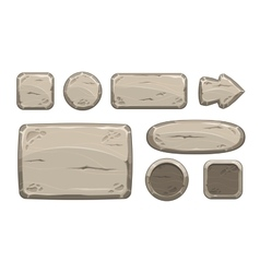 Cartoon stone game assets set vector image vector image