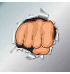 clenched fists vector image vector image