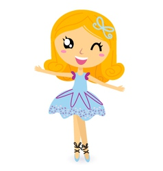 cute ballet dancer girl vector image vector image