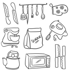 Doodle of kitchen element hand draw vector