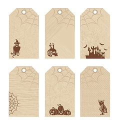 Halloween price tags vector image vector image