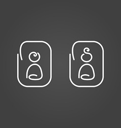 Man and woman icons draw effect vector image vector image