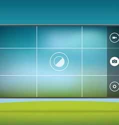 Modern smartphones photo application template vector image vector image