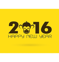 2016 Monkey vector image