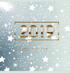2019 happy new year and marry christmas background vector image