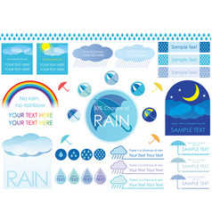a set of regarding the rain vector image