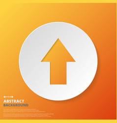 abstract of arrow icon in orange gradient vector image