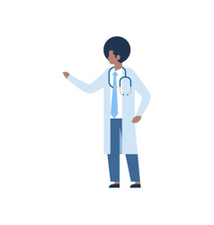 african american man medical doctor stethoscope vector image