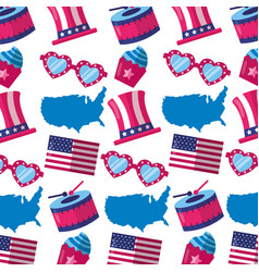 american happy independence day vector image