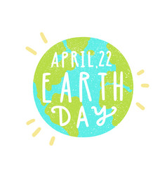 April 22 earth day vector