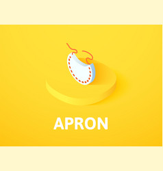 apron isometric icon isolated on color background vector image