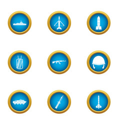Armor icons set flat style vector