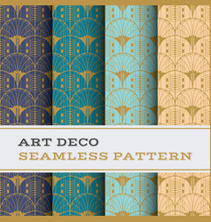 art deco seamless pattern 22 vector image