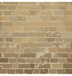Beige brick wall texture vector