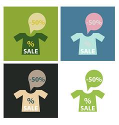 Big super sale promotional set emblems in shape vector
