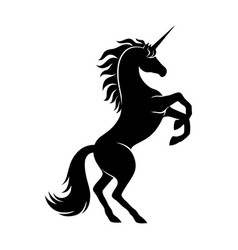 black unicorn sign vector image
