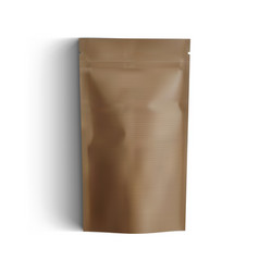 blank luxury brown craft cardboard paper bag for vector image