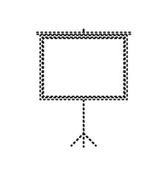 Blank projection screen black dashed icon vector