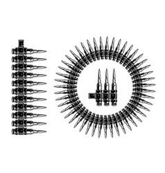 Bullets vintage pattern brush template vector