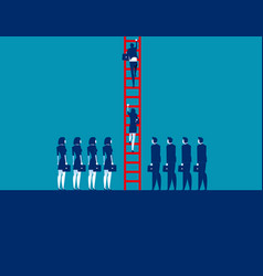 Business people crowd and moving up concept vector