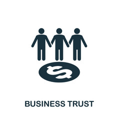 Business trust icon creative element design from vector