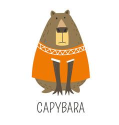Capybara hydrochoerinae family representative vector