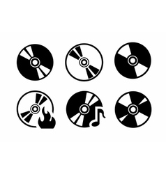 CD icons vector image