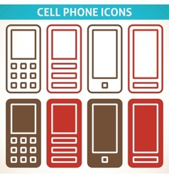 Cellphone and smartphone abstract icons vector