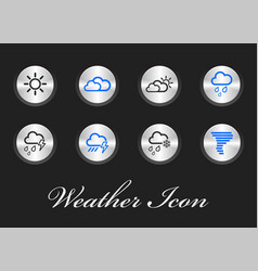 collection of weather icons user interface and vector image