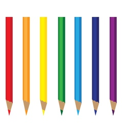 Colored Pencils Rainbow vector image