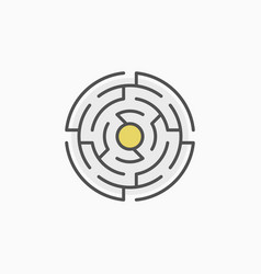 colorful round maze icon vector image