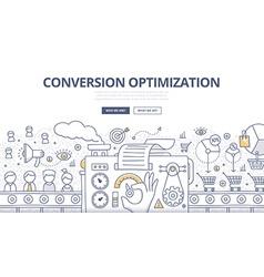 Conversion Optimization Doodle Concept vector image